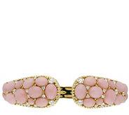 Judith Ripka 14K Clad Pink Opal and DiamoniqueCuff - J386033