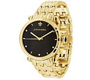 Judith Ripka Goldtone Stainless Black Agate Link Watch - J387733