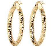 Arte dOro 1 Round Diamond-Cut Hoop Earrings 18K - J388533