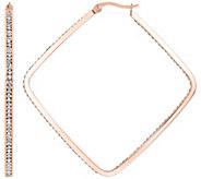 Steel by Design 2-3/8 Square Inside-Out Hoop Earri ngs - J390533