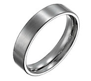 Forza Mens 5mm Steel Flat Brushed Ring - J109534