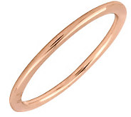Simply Stacks Sterling 18K Rose Gold-Plated 1.5mm Ring - J298034