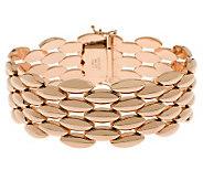 Bronze 7-1/4 Polished Panther Link Bracelet byBronzo Italia - J311734