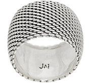JAI Sterling Silver Mesh Band Ring - J353034
