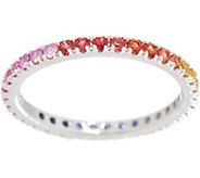 Colors of Sapphire Eternity Band, 0.70 cttw, Sterling Silver - J354034
