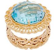 As Is 14K Gold Sky Blue Topaz Ring - J358034
