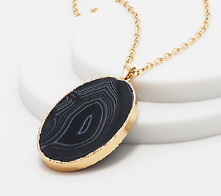 Joan Rivers Simulated Agate Pendant Necklace