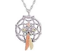 Black Hills Dream Catcher Pendant w/Chain Sterling, 12K Gold - J379434