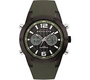 Sean John Mens Analog Digital Dark Green Silicone Watch - J380834