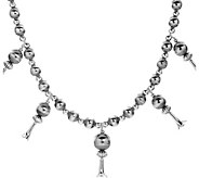American West Sterling Squash Blossom Necklace - J382634