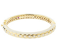 Lauren G Adams Goldtone Colored Enamel Chain Link Bangle - J383434