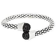 Michael Dawkins Sterling Avg. 3.40ct Black Spinel Flex Bracelet - J282035