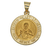 Sacred Heart of Jesus Pendant, 14K Yellow Gold - J303735