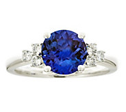 Premier 2.30cttw Tanzanite & 1/5cttw Diamond Ring, 14K - J336235