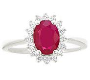 Premier 1.25cttw Oval Ruby & Diamond Ring, 14K - J338235
