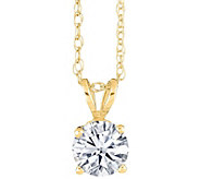 Round Diamond Solitaire, 14K Yellow Gold, 1 ct,by Affinity - J345235