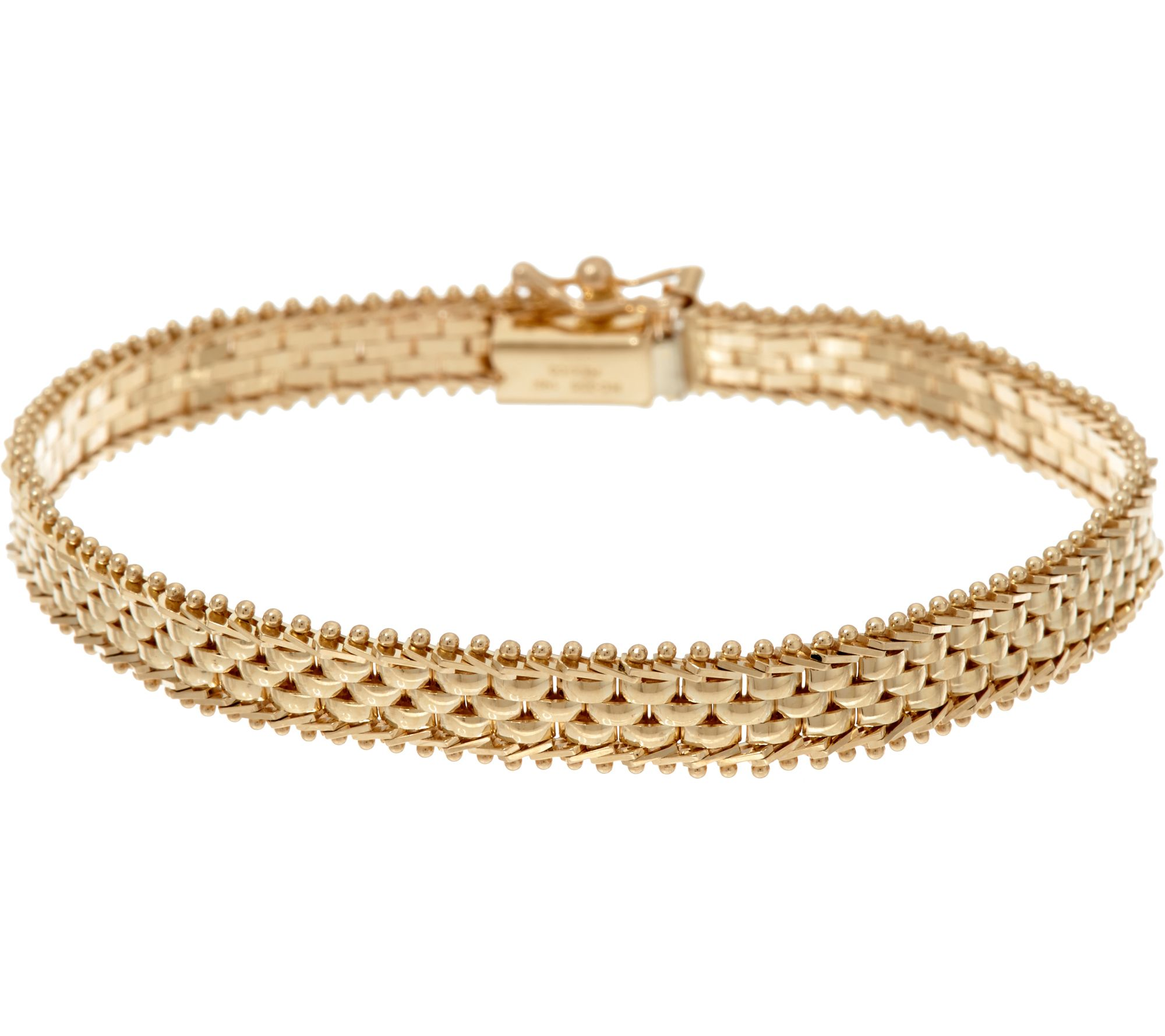 Imperial Gold 6 3 4 Panther Link Riccio Bracelet 14k 10 3g Page 1 Qvc