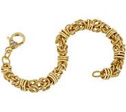 Judith Ripka Verona 14K Clad Byzantine Bracelet, 11.8g - J349235