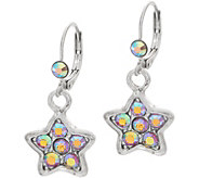 Kirks Folly Freedom Star Leverback Earrings - J355235