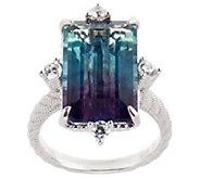 Judith Ripka Sterling Silver Bicolor Flourite Ring - J355335