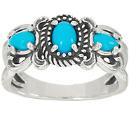 American West Sleeping Beauty Turquoise Sterling Silver Ring - J355635