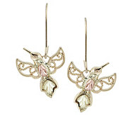 Black Hills Hummingbird Earrings, 10K/12K Gold - J383935