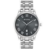 Bulova Mens Stainless Steel Classic Bracelet Watch - J384435