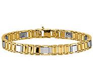 Italian Gold 14K Two-Tone Fancy Link Bracelet,17.9g - J384935