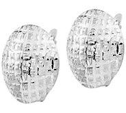 14K Gold Textured Button Earrings - J385535