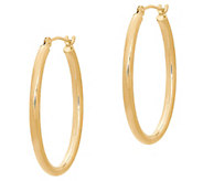 EternaGold 1 Polished Oval Hoop Earrings, 14KGold - J386235