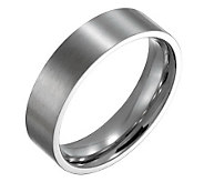 Forza Mens 6mm Steel Flat Brushed Ring - J109536