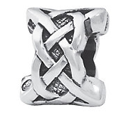Prerogatives Sterling Silver Celtic Weave Bead - J109936