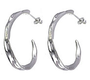 Hagit Gorali Sterling 1-5/8 Sculpted Hoop Earrings - J307236