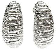 Judith Ripka Sterling Textured Hoop Earrings - J309636