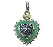 Barbara Bixby Sterling Chrysoprase & Iolite Heart Charm, 18K - J310936
