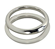 Sterling 2MM Unisex Wedding Band Double R ing Guard - J312036