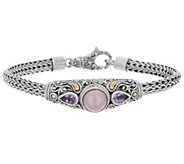 Artisan Crafted Cultured Pearl & Gemstone Tulang Naga Bracelet - J355436