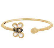 Judith Ripka 14K Gold Clad Barbara Bumble Bee Cuff Bracelet - J355836