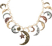 Kirks Folly Moon Shadow Charm Necklace - J356936