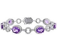 14K Gold 14.00 cttw Amethyst & 1.50 cttw Diamond Bracelet - J382336
