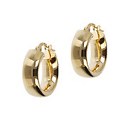 Veronese 18K Clad 1/2 Round Hoop Earrings - J390836