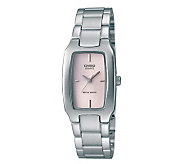 Casio Womens Classic Pink Dial Watch - J106937