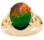 Ammolite Triplet 14K Gold Ring - J334637