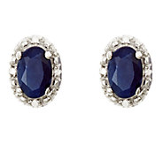 Sterling Oval Fancy Stud Earrings with DiamondAccent - J336137