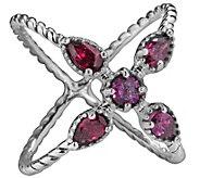 Carolyn Pollack Rhodolite Garnet X Ring - J343637