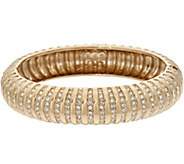 Grace Kelly Collection Simulated Diamond Ribbed Hinged Bangle - J346337