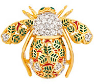 Joan Rivers Private Collection Lucky Clover Bee Pin - J353037