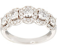 5-Stone Halo Band Ring, 1.40 cttw, 14K, by Affinity - J354437