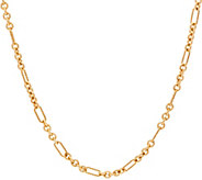 Carolyn Pollack 14K Gold Plated Status Link 18 Chain Necklace 12.4g - J357037