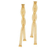 Italian Gold Twisted Dangle Earrings, 14K Gold - J357437